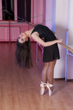 Adorable  ballet Girl in Dance studio Royalty Free Stock Image