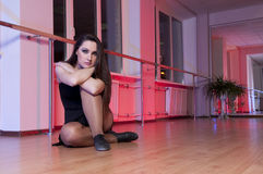 Adorable  ballet Girl in Dance studio Stock Images
