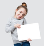 Adorable banner girl Royalty Free Stock Images