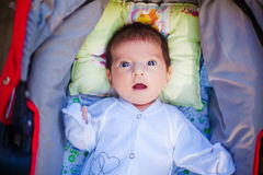 Adorable beautiful newborn baby Stock Photos