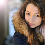 Adorable beautiful teen girl face Royalty Free Stock Photography