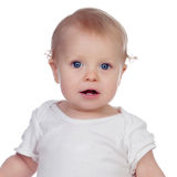 Adorable blond baby in underwear Royalty Free Stock Photography