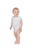 Adorable blond baby in underwear Stock Images