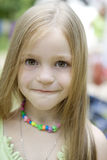 Adorable blond  child  girl Stock Images