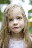Adorable blond child girl stock photos