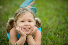 Adorable blond girl Royalty Free Stock Images