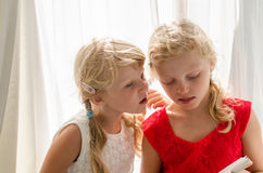 Adorable blond girls Royalty Free Stock Photo
