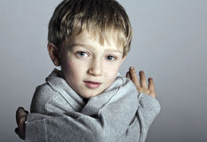 Adorable blonde boy child Stock Photography