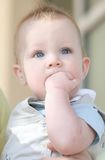 Adorable Blue Eyed Baby Boy Sad Stock Images