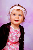 Adorable blue eyes baby girl Royalty Free Stock Photos