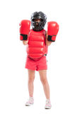 Adorable boxer girl acting mad Stock Image