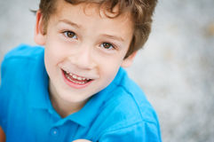 Adorable boy. Close up of an adorable young boy smiling Royalty Free Stock Photo
