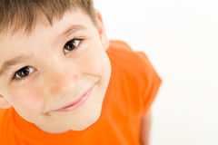 Adorable boy. Photo of adorable young boy looking at camera Royalty Free Stock Images