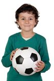 Adorable boy with a ball Stock Images