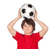 Adorable boy with a ball Stock Image