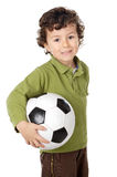 Adorable boy with a ball Royalty Free Stock Images