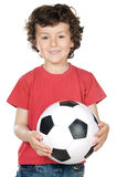Adorable boy with a ball Stock Photography