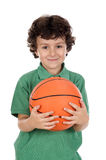 Adorable boy with ball Stock Photos