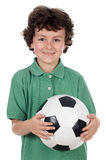 Adorable boy with ball Stock Image