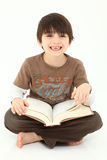 Adorable Boy with Book stock photo