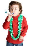 Adorable boy celebrating a celebration Stock Photography