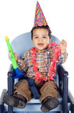Adorable boy celebrating your birthday Stock Photos