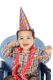 Adorable boy celebrating your birthday Stock Photography
