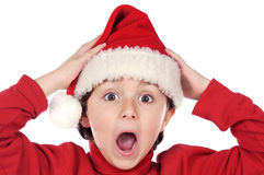 Adorable boy in christmas Royalty Free Stock Photography