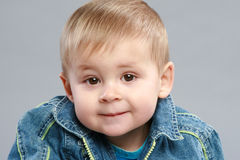 Adorable boy close-up portrait Royalty Free Stock Image