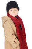 Adorable boy dress for the winter Royalty Free Stock Photos