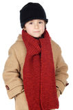Adorable boy dress for the winter Stock Images