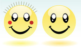 Adorable boy and girl smileys Royalty Free Stock Images