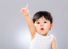 Adorable boy hand raised up Royalty Free Stock Images