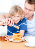 Adorable boy and his father Royalty Free Stock Images