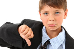 Adorable Boy In Over Sized Suit Royalty Free Stock Photography