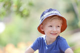 Adorable boy outdoors Royalty Free Stock Image