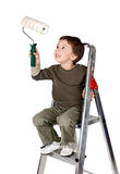 Adorable boy painting Royalty Free Stock Photo
