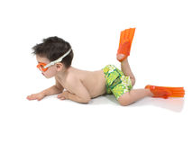 Free Adorable Boy Pretending To Be A Fish Royalty Free Stock Photo - 110075