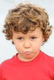 Adorable boy sad Stock Photos