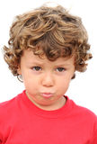 Adorable boy sad Royalty Free Stock Images