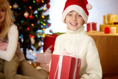 Santa boy Stock Images