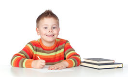 Adorable boy studying Royalty Free Stock Photos