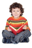 Adorable boy studying Stock Photography