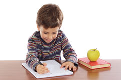 Adorable boy studying Royalty Free Stock Images