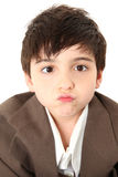 Adorable Boy in Suit Royalty Free Stock Photography