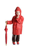 Adorable boy with umbrella Stock Images