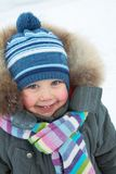 Adorable boy in winter Stock Photos