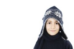 Adorable boy in winter clothes. Stock Photography