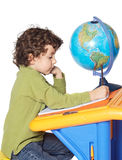 Adorable boy writing Royalty Free Stock Photography