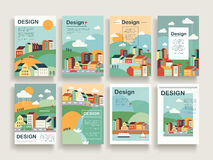 Adorable brochure template Stock Images